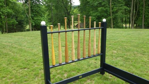 Hand Crafted Baseball Bat Double Bed Frame By Reclaimed Art
