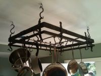 Hand Made Forged Pot Rack by Hellgate Forge