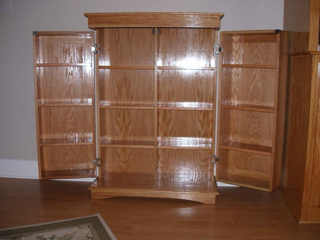 Hand Made Dvd Cabinet by Richards Woodworking  CustomMadecom