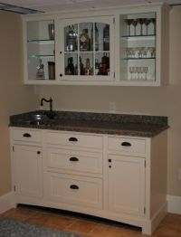 Custom Made Stone Top Bar Cabinet And Sink by R. A