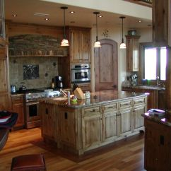 Alder Cabinets Kitchen American Made Knives Hand Crafted Knotty Custom