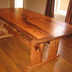 Walnut Kitchen Table Outdoor Exhaust Hoods Custom Arts And Crafts Dining By Rockytop Woodworks ...
