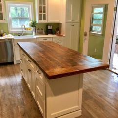 Kitchen Island Top Oil Bronze Faucet Handmade Solid Hickory Bar By Glessboards Reclaimed Wood