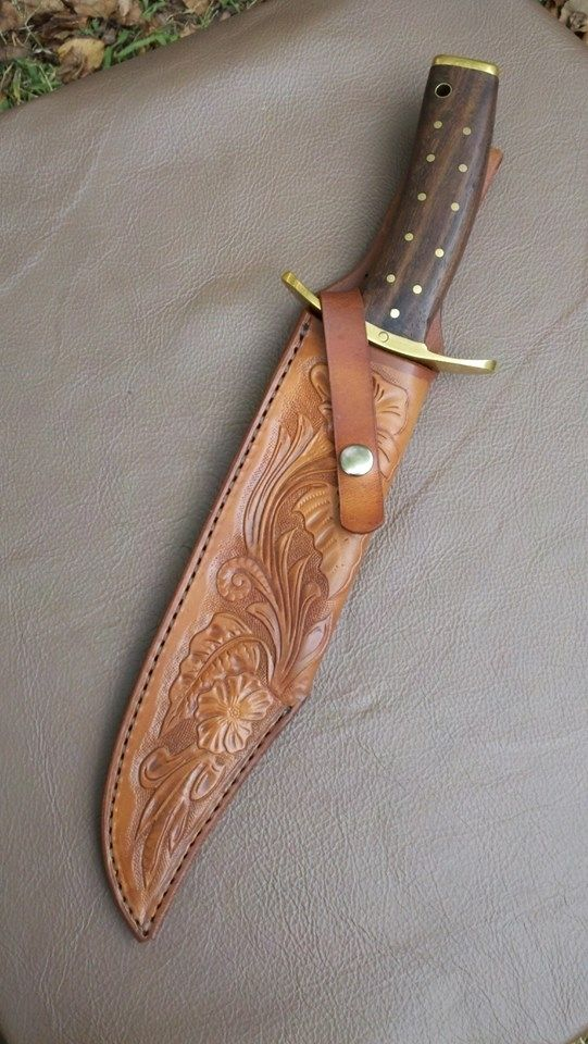 Hand Crafted Custom Sheath For Large Custom Knife by Alamo