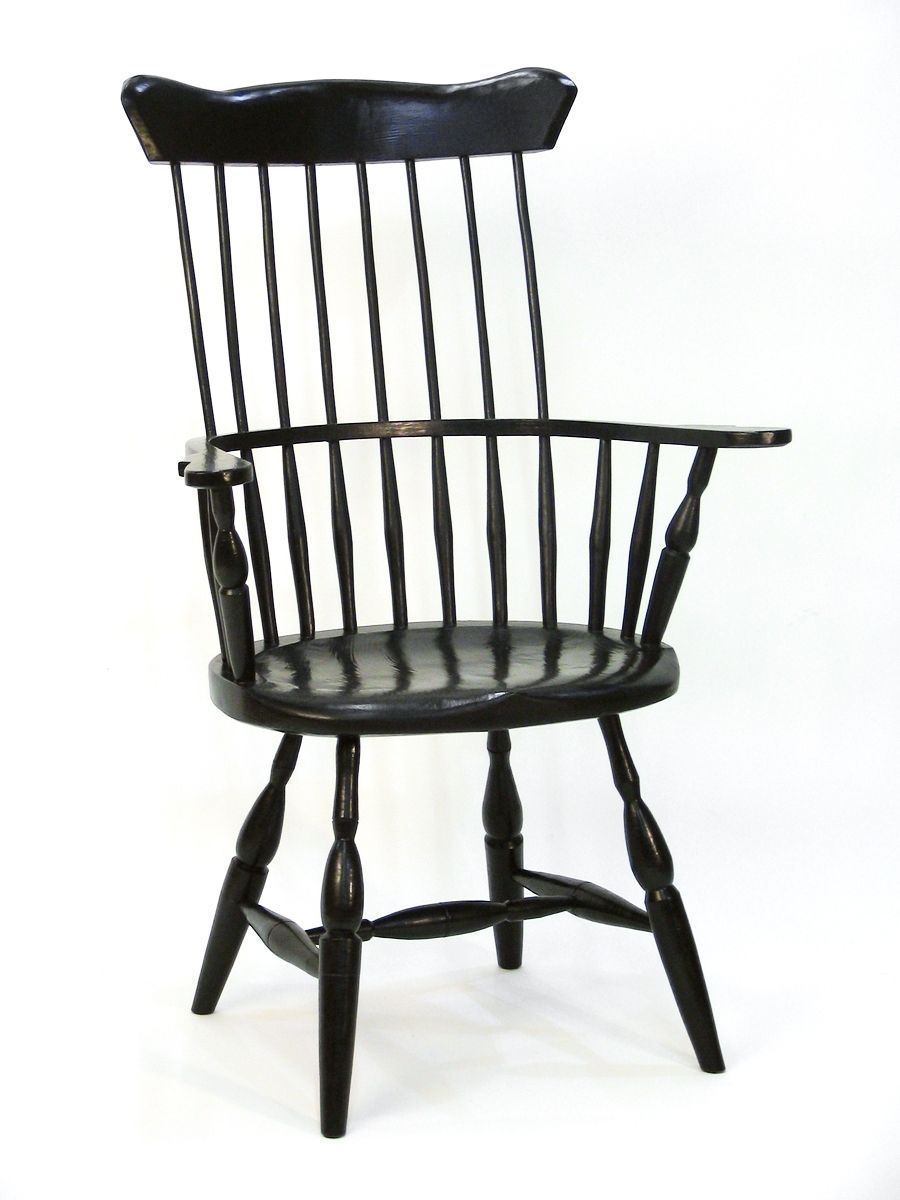 Custom American High Back Windsor Chair by Silvertree