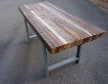 Reclaimed Wood Outdoor Dining Table