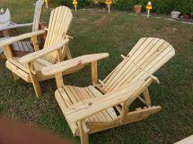 Hand Reclining Adirondack Chairs Custom Kreations