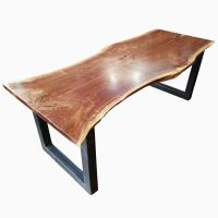 Hand Made Natural Live Edge Dining Table, Industrial ...