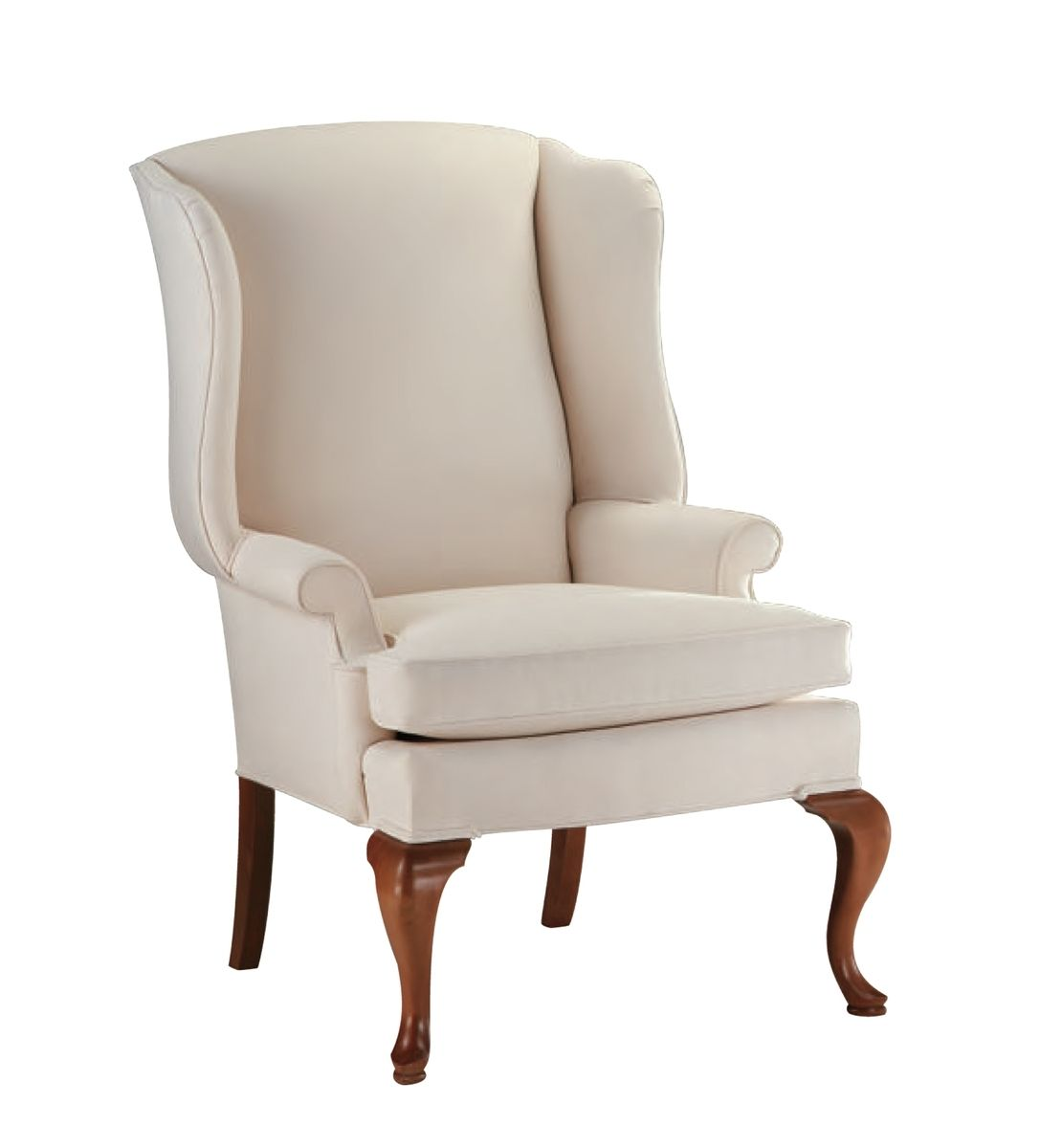 upholstered wingback chair unique baby shower chairs custom by oak and velvet