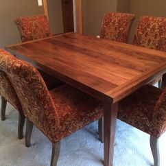 Black Walnut Kitchen Table Remodel And Bathroom Custom Made Dining By Rugged Cross Fine