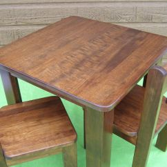 Solid Wood Childrens Table And Chairs Revolving Chair For Computer Hand Crafted Children By Atelier Unik Art Custom Made