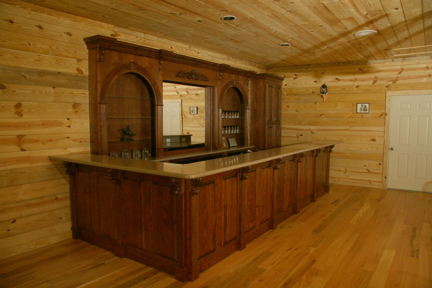 Hand Made Western Bar by Oak Creek Cabinets  CustomMadecom