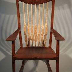 Rocking Chair Fine Woodworking Folding Beach Lounge Canada Custom Dreamtime By Timothy S Made
