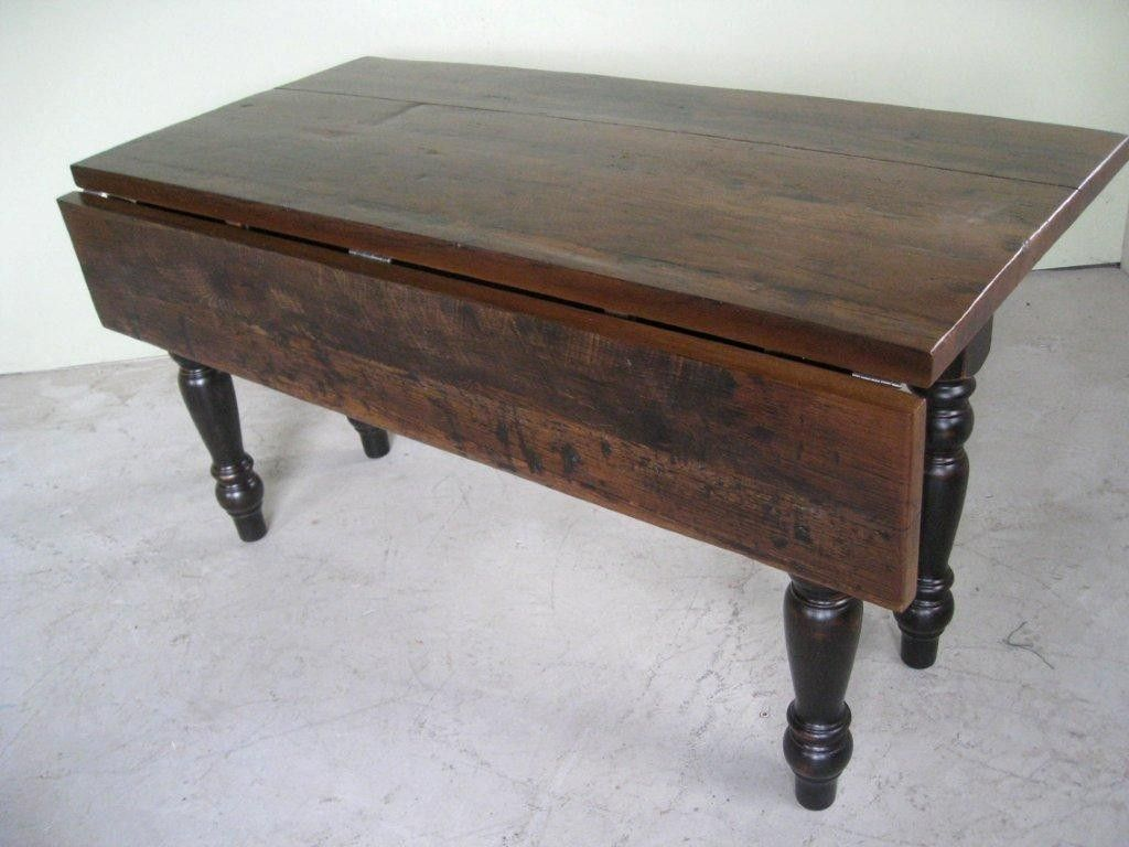 Hand Crafted Custom Drop Leaf Dining Table And Matching