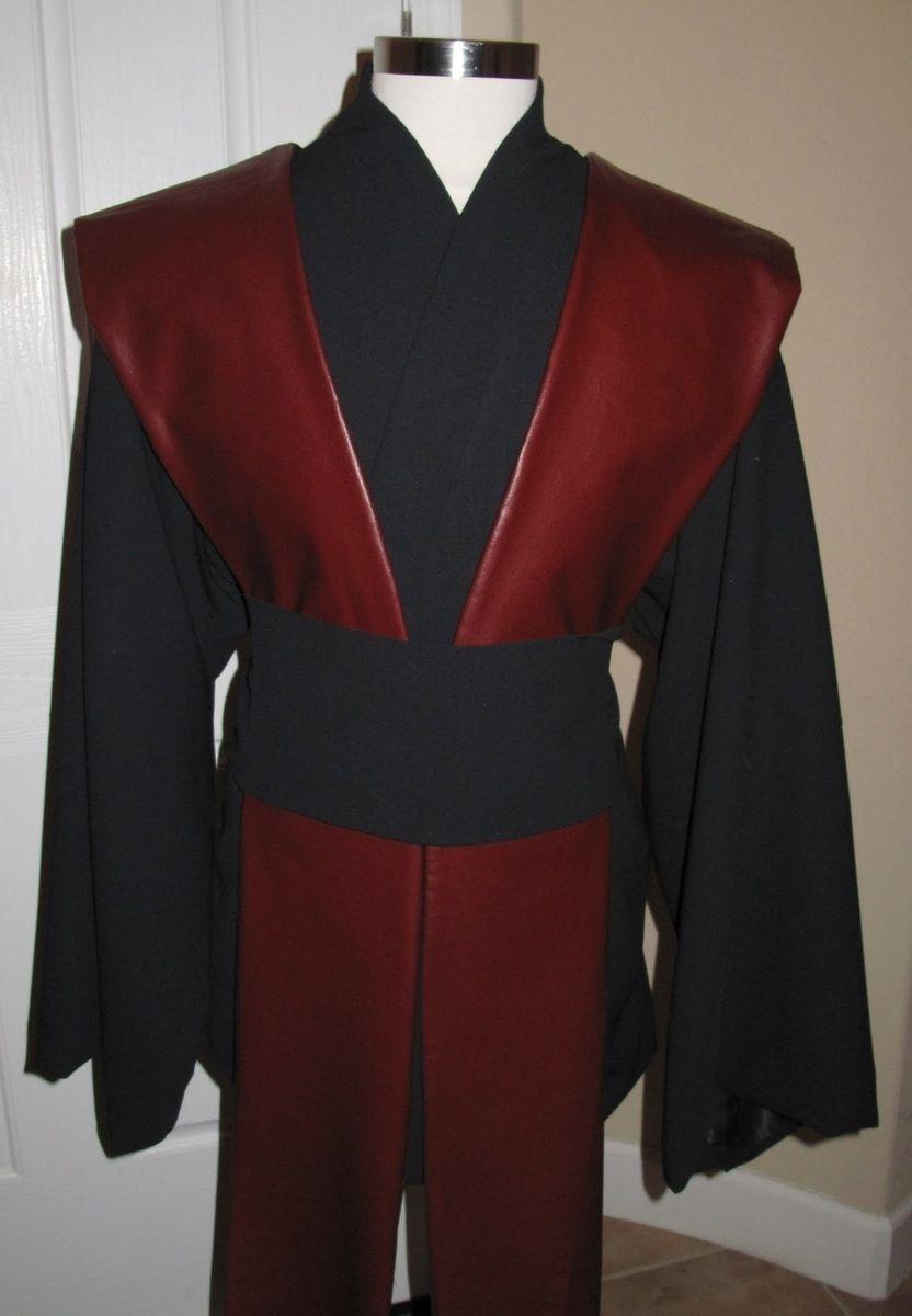 Custom Sith Jedi Black Wool Gabardine Tunic Amp Sash