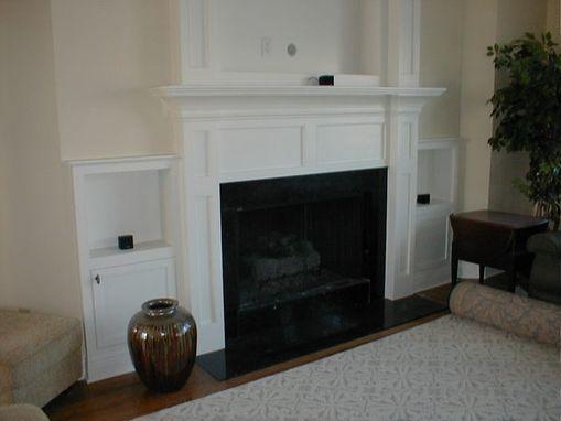 Custom Made Built In Fireplace Mantle For FlatScreen Tv