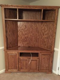Custom Made Solid Oak Corner Entertainment Center by Yancy ...