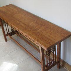 Custom Made Sofa Tables Chesterfield Black Velvet Prairie Style Hall Or Table By Mccabe