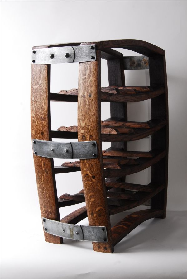 Hand Crafted Rustic Barrel Stave Wine Rack Order Wood And