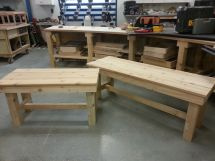 Handmade Patio Benches Prairie Woodworks Llc
