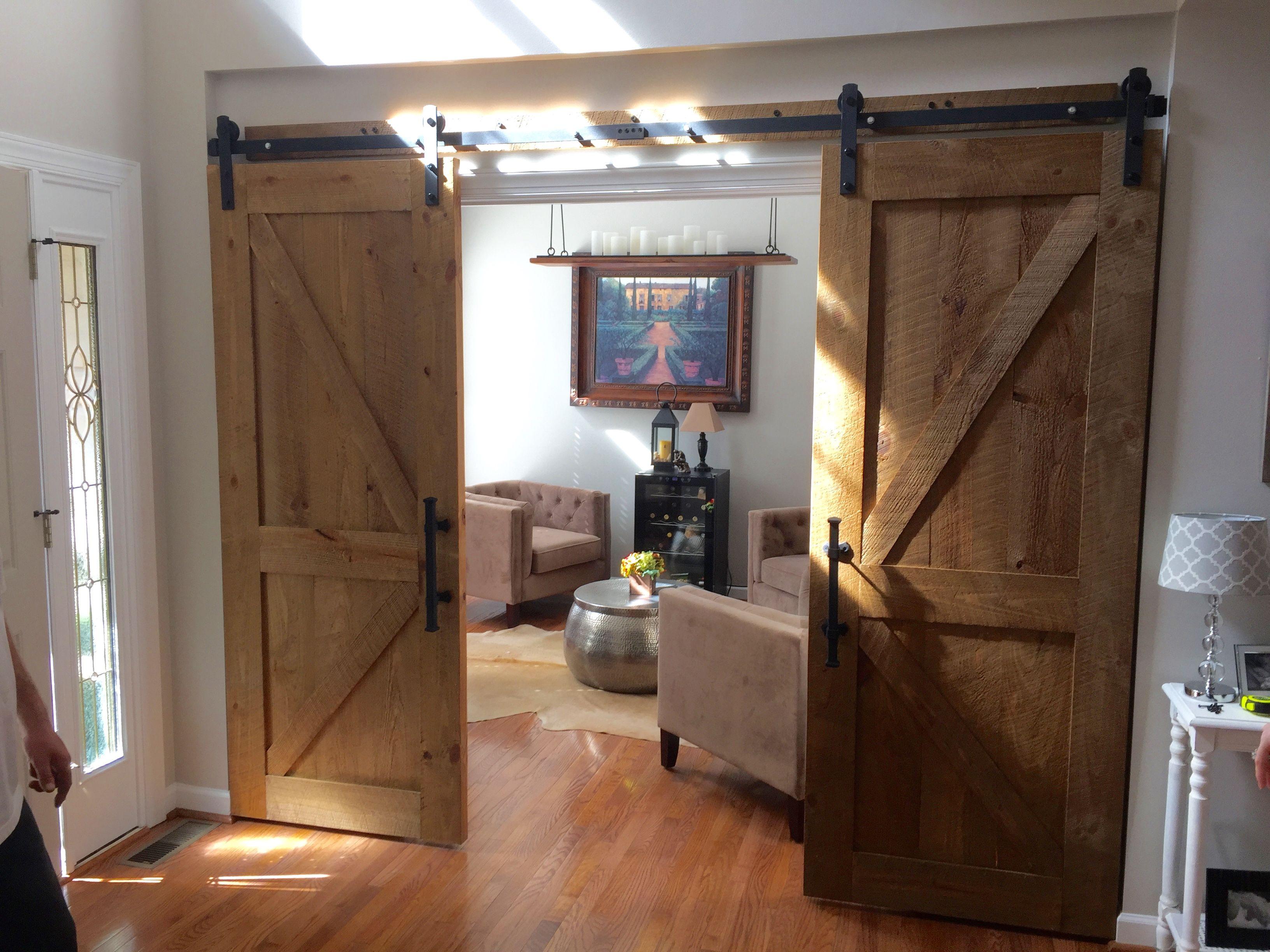 Custom Reclaimed Wood Rustic Barn Doors By Carolina Wood