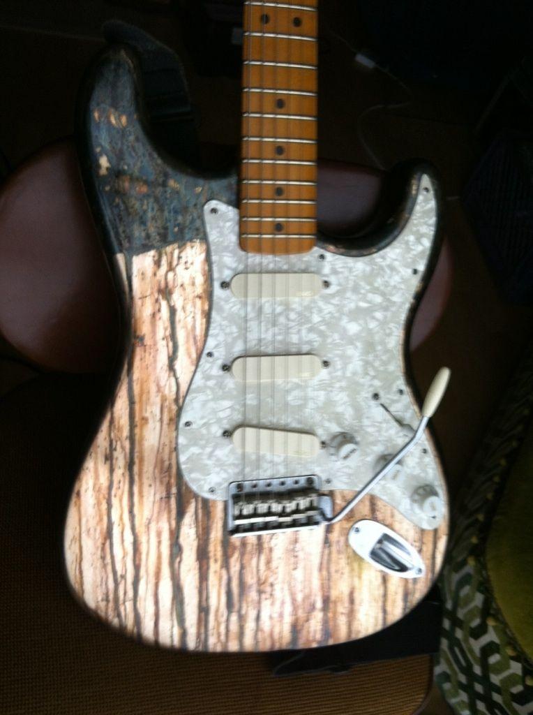 Custom Made Silver Leaf Finish Guitar by Darin Danford  CustomMadecom