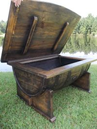 Custom Made Whiskey / Bourbon Barrel Coffee Table by Old ...
