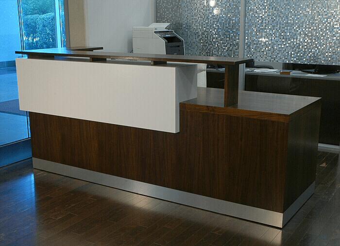 Hand Crafted Duchamp Reception Desk Contemporary