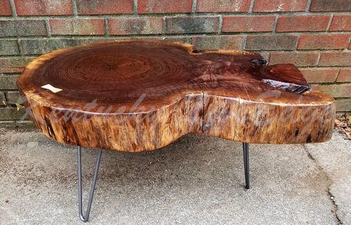 round table tree slice log table