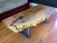 Handmade Live Edge Maple Burl Coffee Table With Square ...