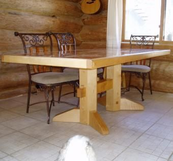 maple kitchen table how much to replace cabinets custom made marble and by huisman concepts