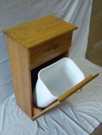 Hand Crafted New Solid Oak Wood Kitchen Garbage Bin ...