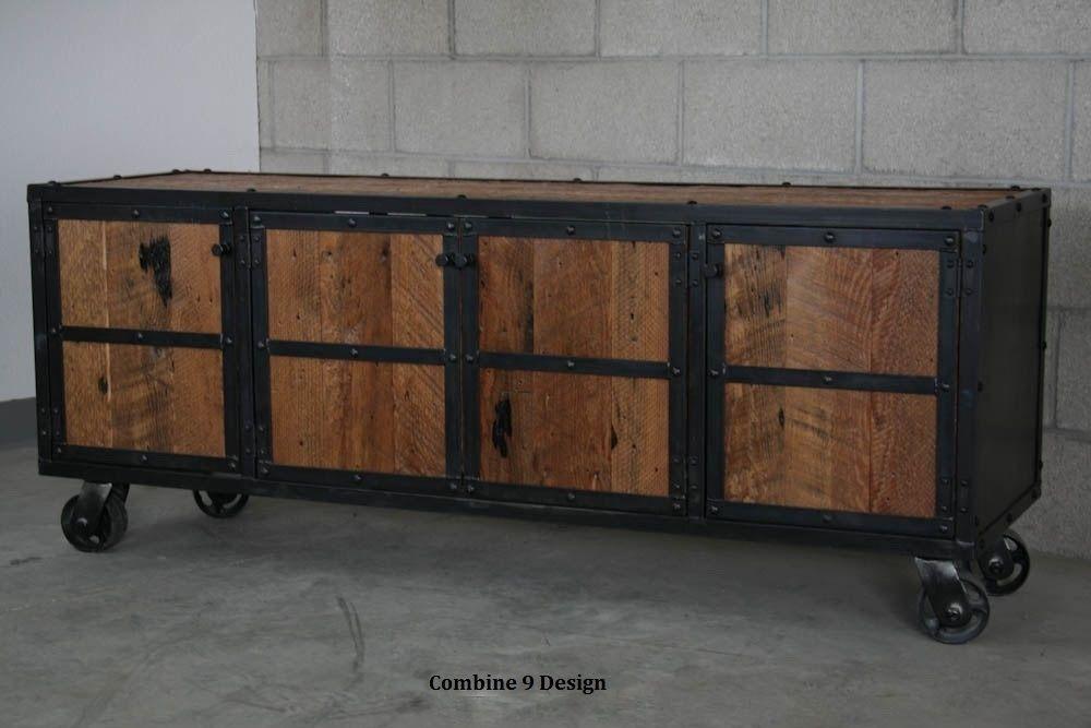 mid century style sofa canada victor flexform buy a hand crafted urban vintage industrial media console ...