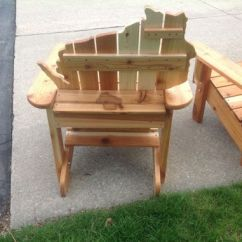 Unfinished Adirondack Chair Bar Table Height High Handmade Cedar Wisconsin Chairs With Personalized Laser Engraving. By Drew's Up North ...