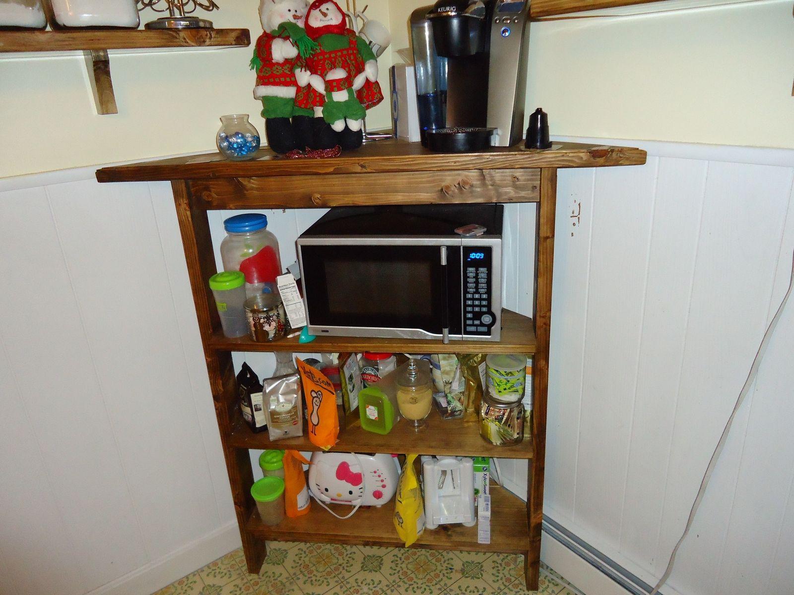 hand crafted rustic kitchen corner