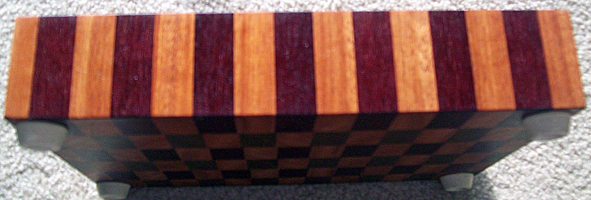 Handmade Mahogany Walnut Purple Heart End Grain Board by Jlb Woodworking  Carpentry
