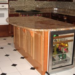 Handmade Kitchen Islands Electric Stoves Island With Winecooler And Granite Countertop By Custom Made