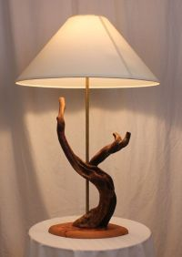 Handmade Driftwood Table Lamp by Driftwood & Cactus ...
