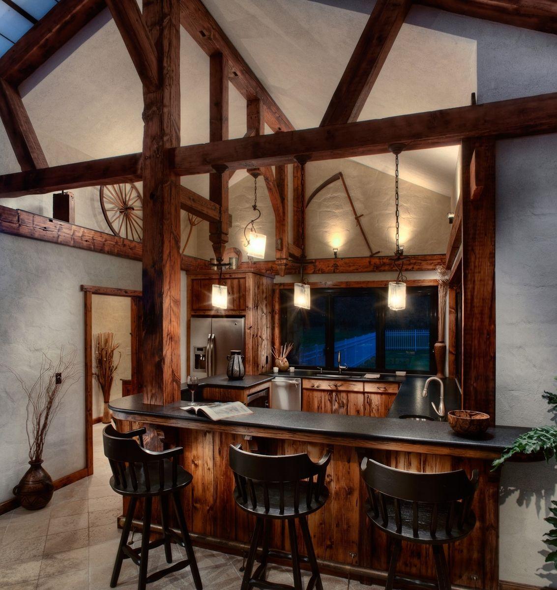 Custom Pool House BarKitchen by Cabinetmaker Birdie