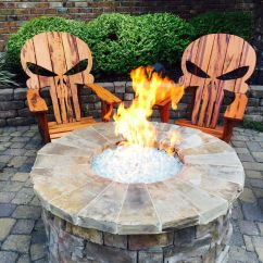 Garden Chair Design Plans For Church Buy A Hand Crafted Punisher Skull Adirondack Chair, Made To Order From Carolina Wood Designs ...