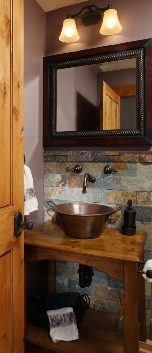 Custom Powder Room Vanity Cabinet by Tilde Design Studio  CustomMadecom