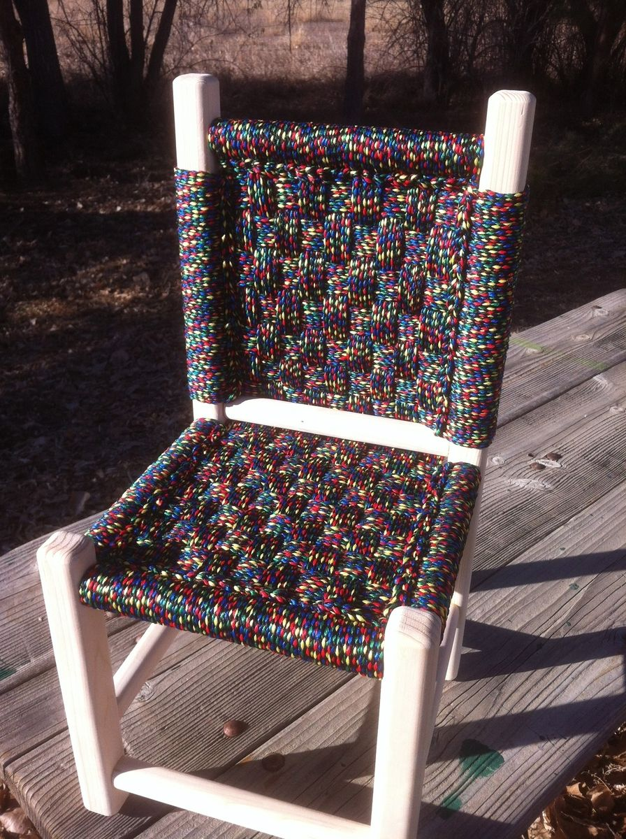 Hand Made Kids Post And Rung Macrame Chairs by Abc Woodworking  CustomMadecom