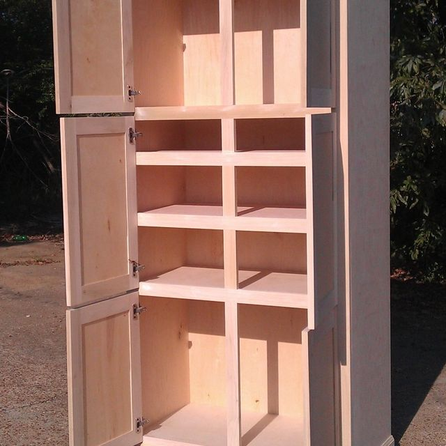 kitchen freestanding pantry wood countertops hand made cabinet by ambassador woodcrafts custommade com
