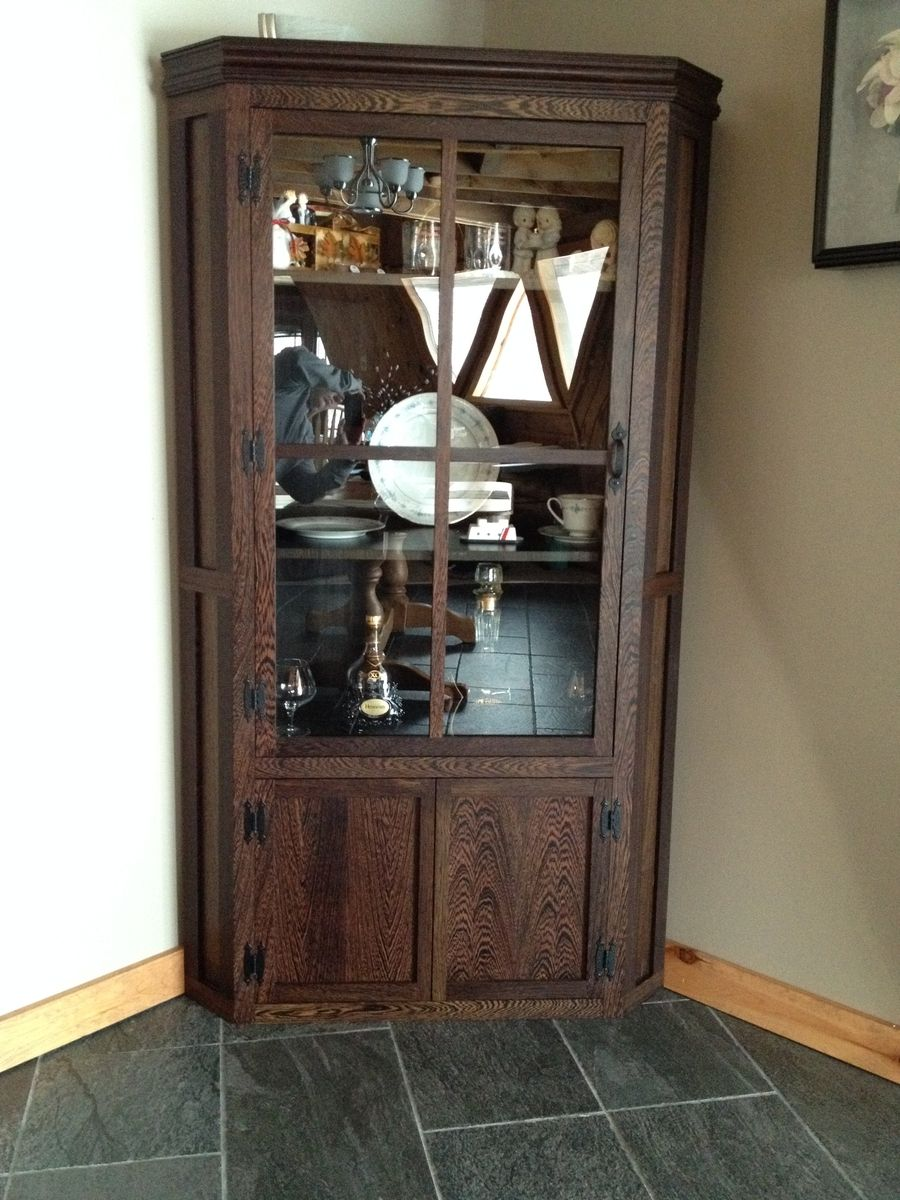 Custom Corner Display Cabinet By Owryen Interiors And