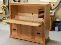 Hand Made Drop Front Desk Cabinet by Martins Hardwoods