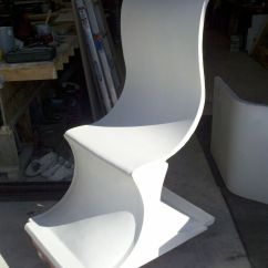 High Backed Chair Ikea Belfast Covers Hand Made Fabric Formed Concrete By Kulish Design Custom