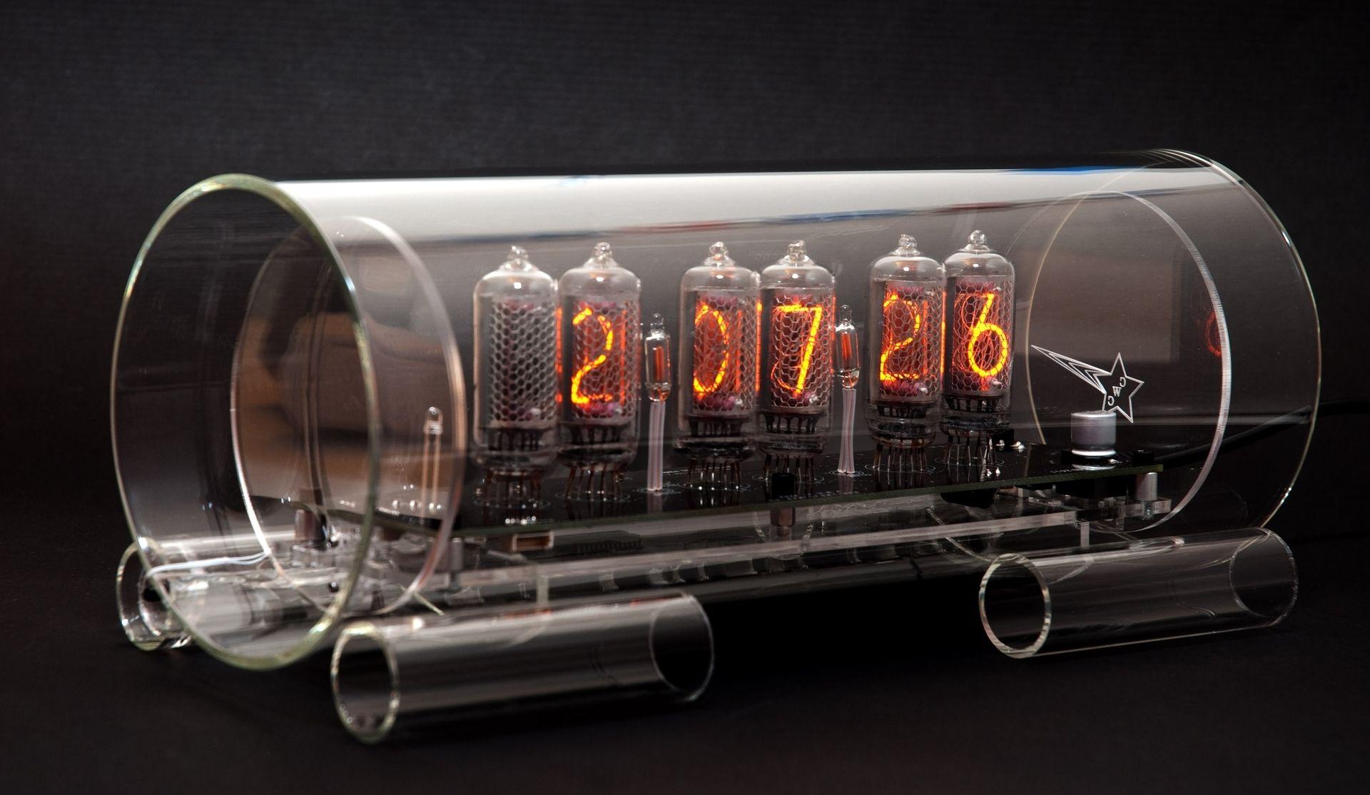 Buy a Custom Made Glass Nixie Clock In82 Model made to