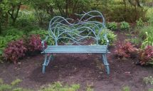 Custom Hand Forged Iron Bench Arc Creations