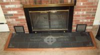 Handmade Engraved Slate Fireplace Hearth With Celtic And ...