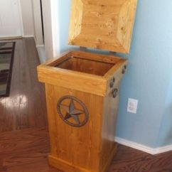 Trash Cans For Kitchen Engineered Wood Flooring Buy A Hand Crafted Rustic Can, Made To Order ...